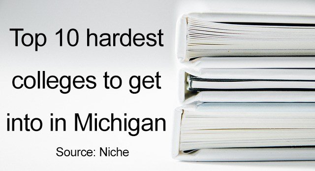 Top 10 hardest colleges to get into in Michigan
