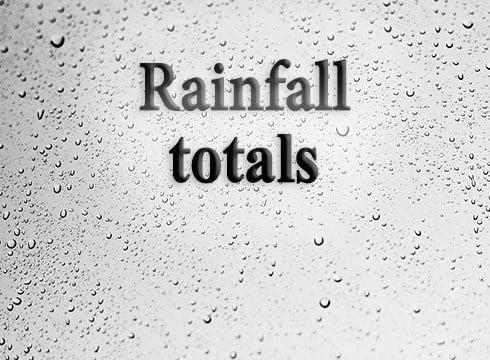 Rain totals 5/16