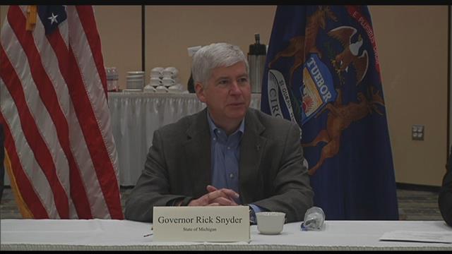 Gov. Snyder in Flint (Source: WNEM)