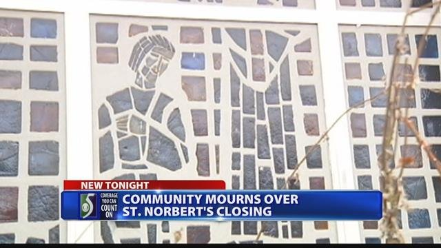 Parishioners upset by potential closing and sale of St. Norbert's church