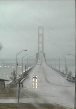 Courtesy: Mackinac Bridge Cam