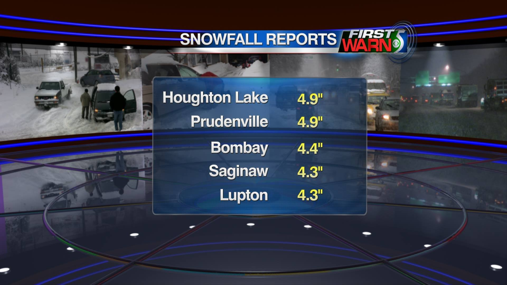 Reported Snowfall Totals, March 23-24