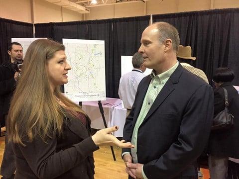 3.Congressman Moolenaar meets with Melissa Mays in Flint on March 12, 2016. (Source: Congressman Moolenaar)