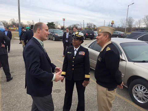 2.	Congressman Moolenaar meets with U.S. Public Health Service in Flint on March 12, 2016. (Source: Congressman Moolenaar)