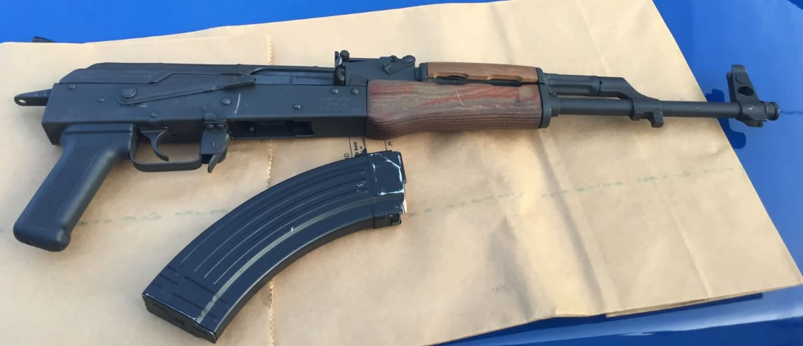 This SKS assault rifle was found in the suspect's vehicle on May 9. (Source: Michigan State Police)