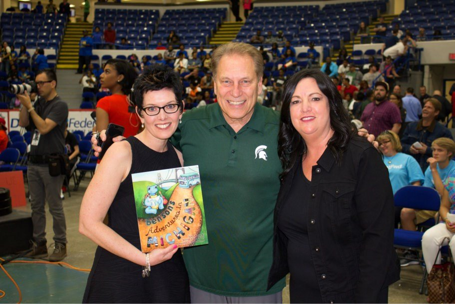 Shannon Cooper-Toma, MSU Basketball Coach Tom Izzo, Tracy Foster