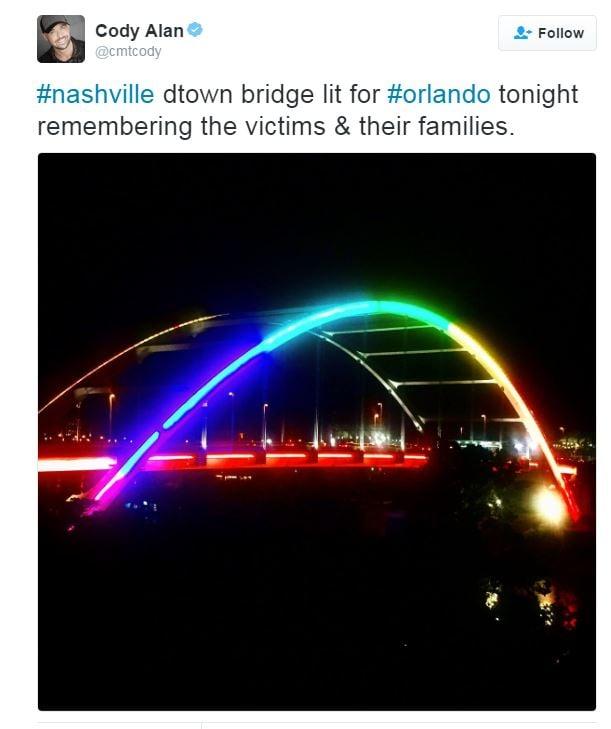 Nashville bridge changed to support LGBT