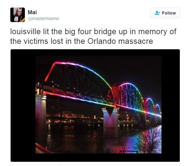 Louisvlle bridge changed to support LGBT
