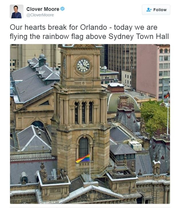 Sydney flies LGBT flag