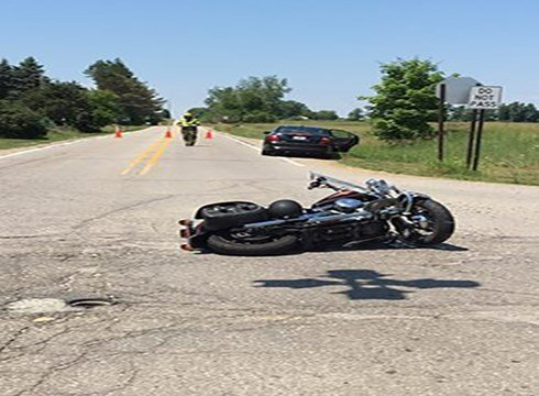 A crash on Millington Road. Source: Tuscola County Sheriff's Dept.