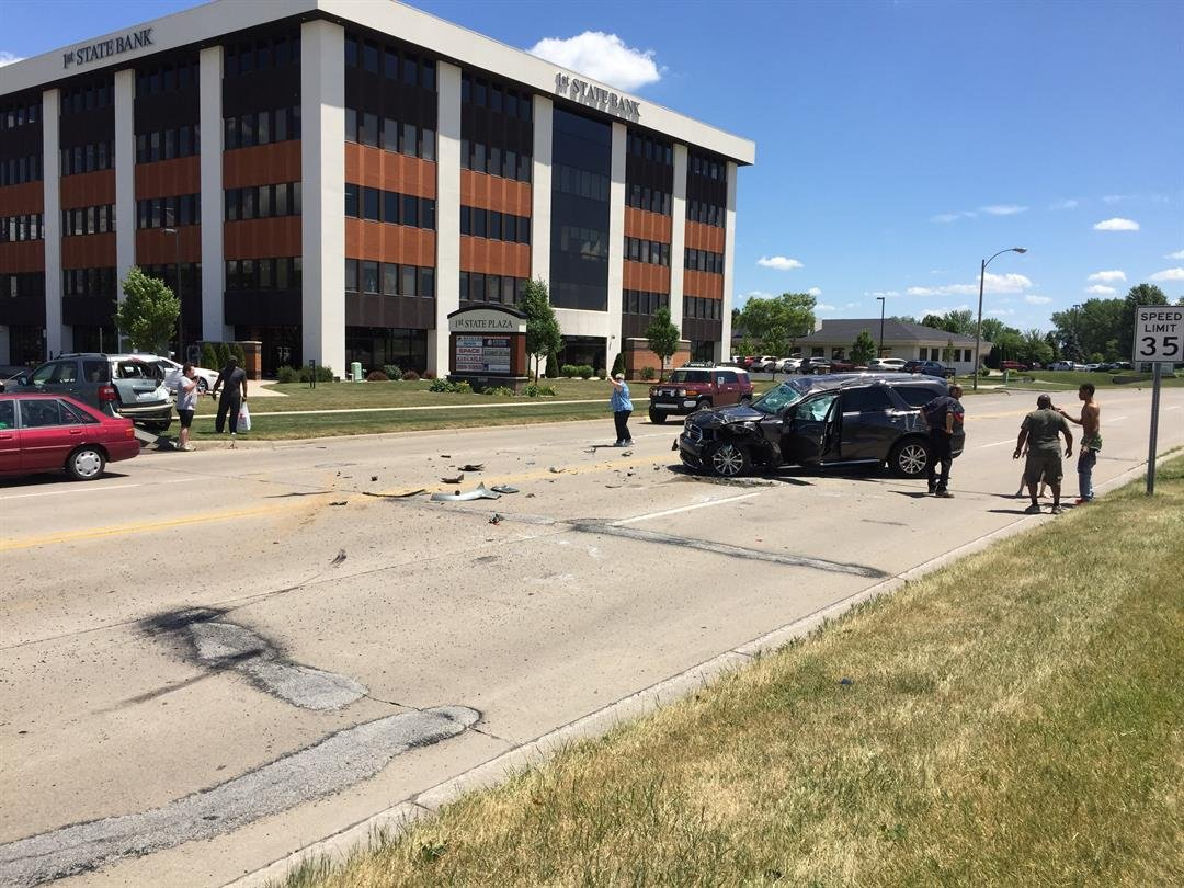 SUV rolls twice on Fashion Square Blvd.