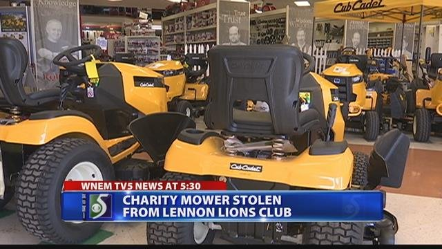 Mower stolen from charity