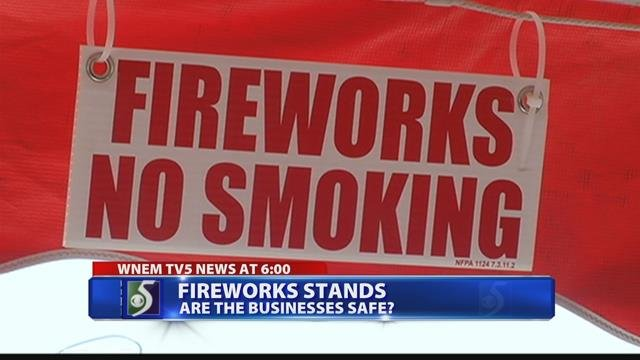 Safety and regulations of fireworks stands