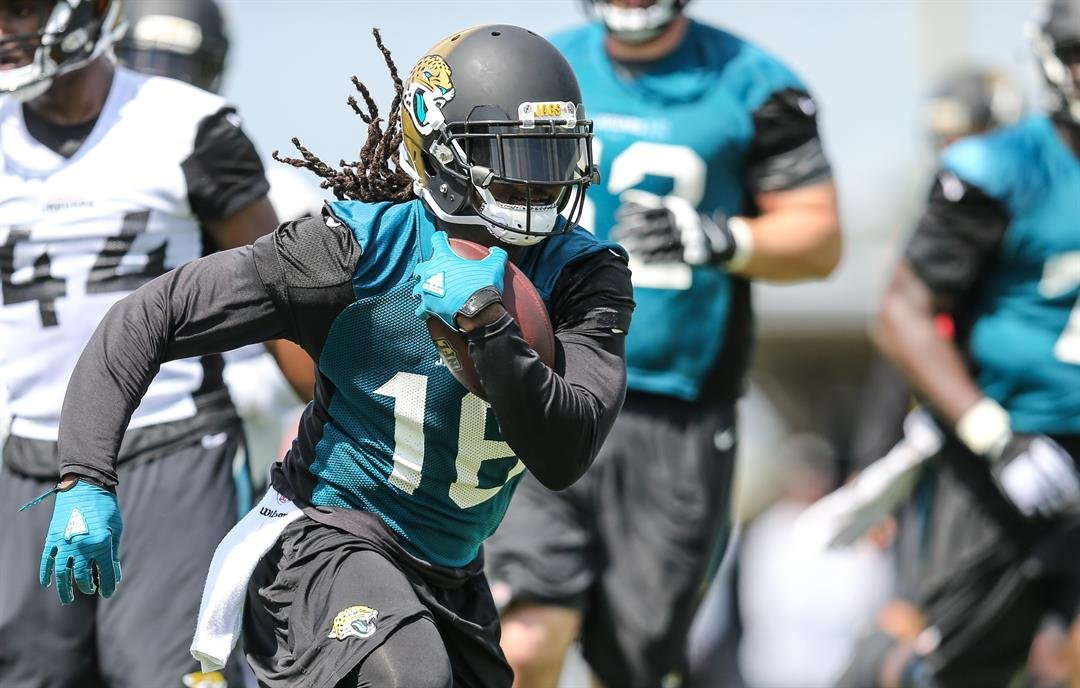 Denard Robinson. (Associated Press photo from Jacksonville Jaguar's minicamp practice. Dated June 15, 2016.)