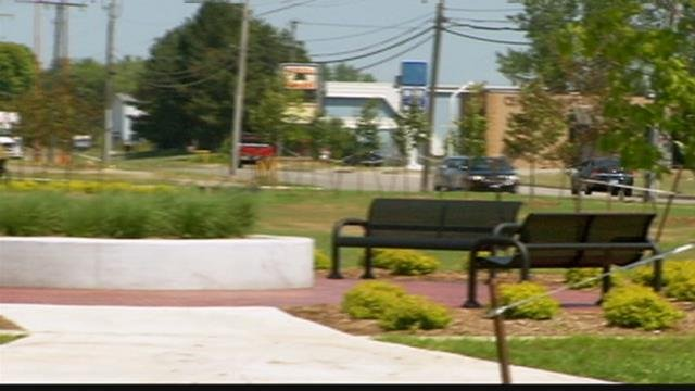 Old shopping center becomes green space