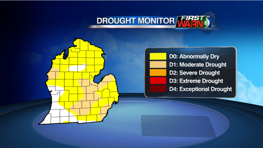 Drought conditions as of July 26, 2016.
