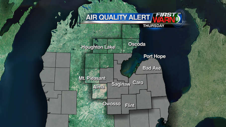 Air quality alerts for Thursday.