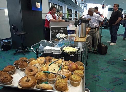 Keith Jungquist sends us this photo from Bishop Airport in Flint where he is stranded due to the Delta shutdown.