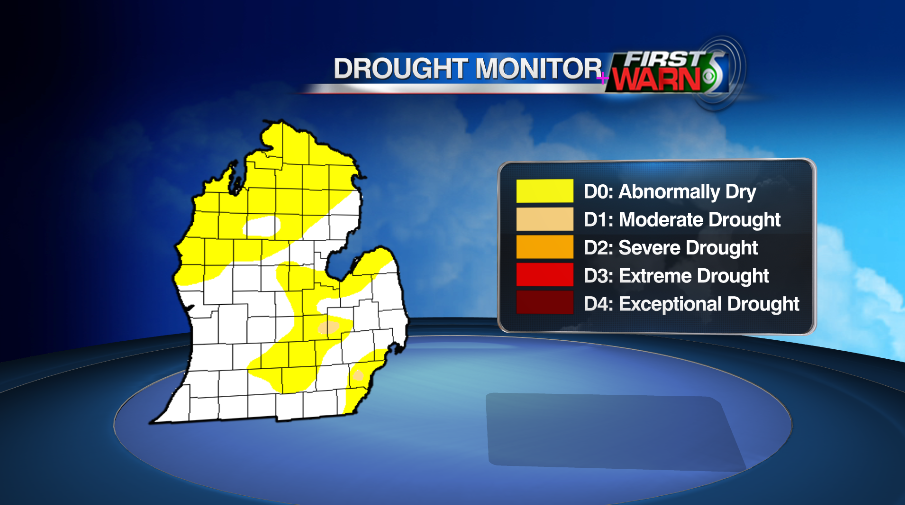Michigan Drought Monitor, released August 18, 2016.