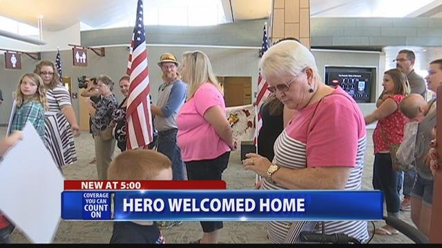 Friends, family welcome home soldier from Afghanistan