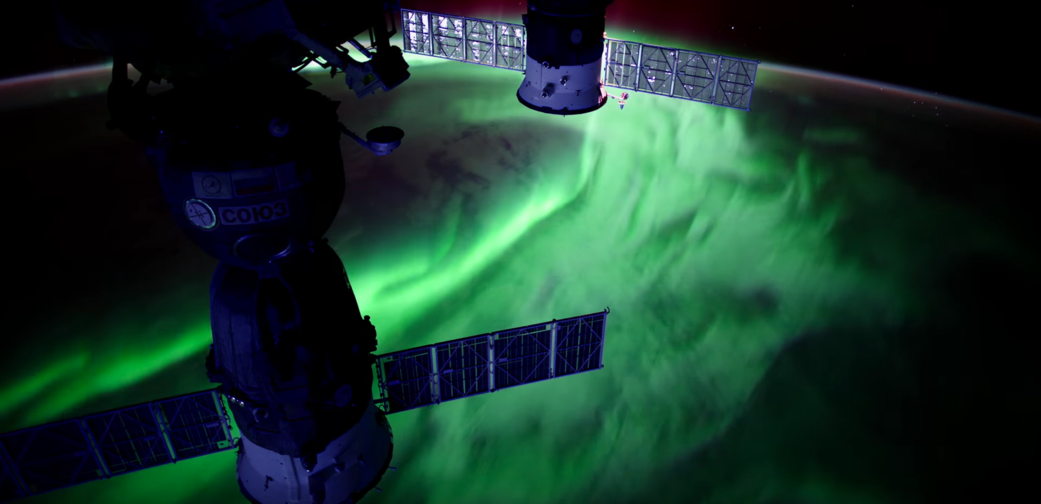 Image of an aurora from the International Space Station. (Source: NASA)