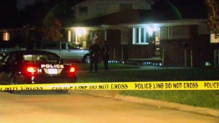 A man is in custody after his two young children were asphyxiated using a car exhaust, his wife's two older children were fatally shot and his wife was shot and slashed at their suburban Detroit home, police said. (Source: WXYZ/CNN)