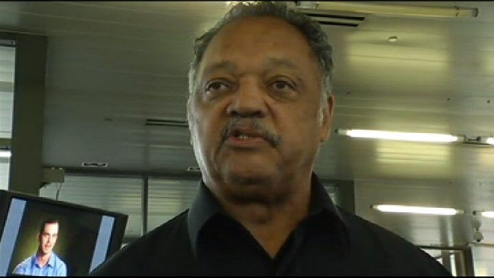 Jesse Jackson visited Flint in support of Hillary Clinton