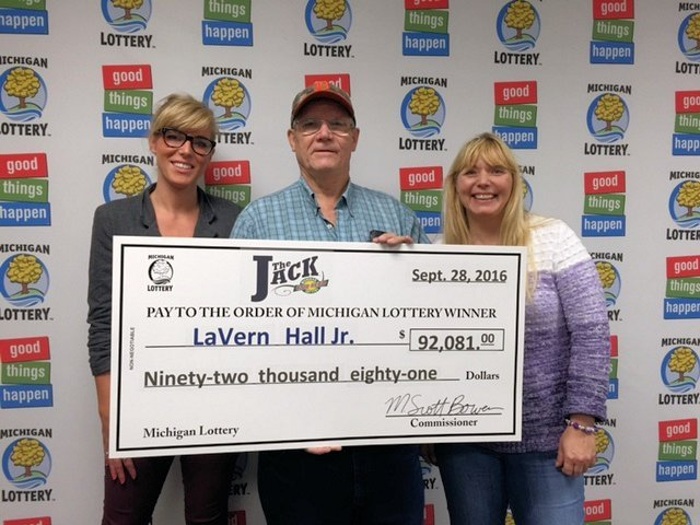 Lavern Hall Jr. (Source: Michigan Lottery)