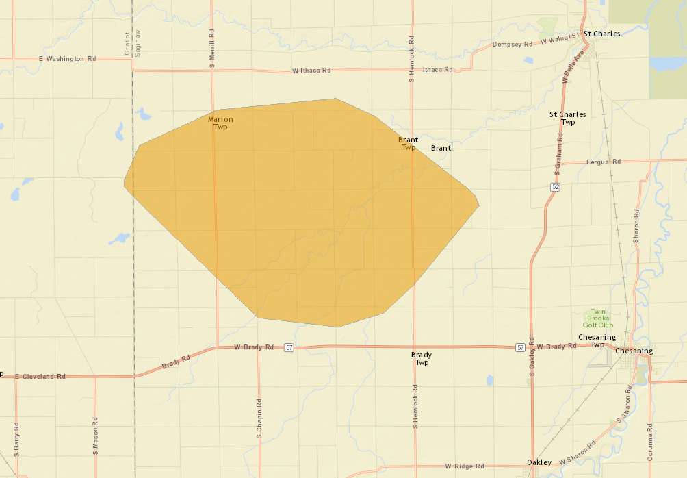 Saginaw County power outage