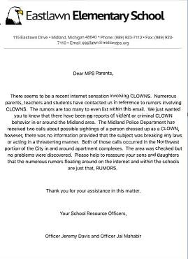 Source: Letter provided.