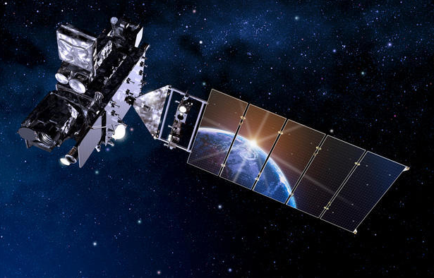 Artist rendering of the GOES-R satellite. (Lockheed Martin)