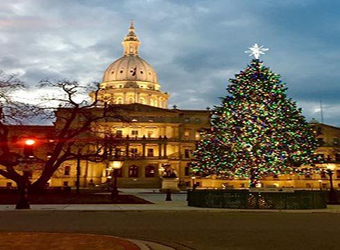 The 2016 state Christmas tree. (Source: Gov. Rick Snyder on Twitter)