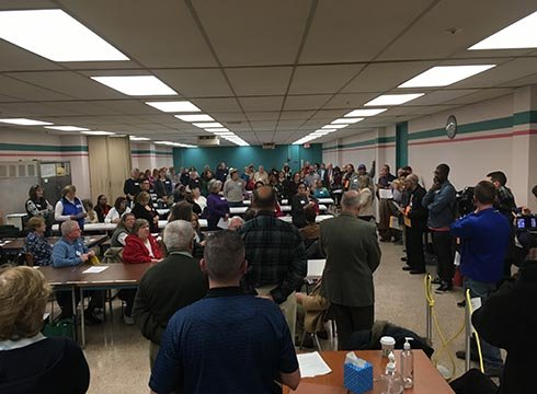 In Genesee County, 227 precincts were represented in the cafeteria of the administration building. Source: WNEM