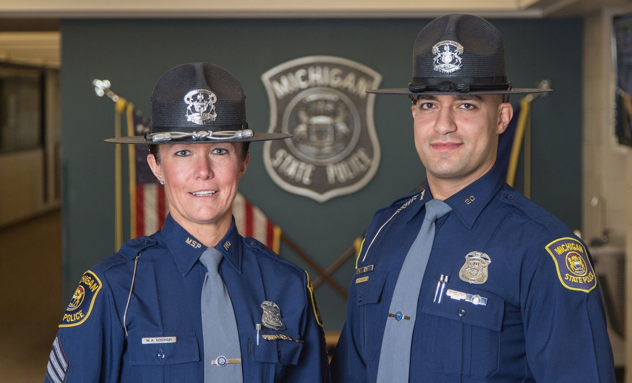 Michigan Troopers Wear Throwback Hats For 100th