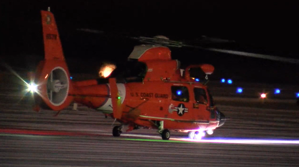 The Coast Guard has choppers searching in Lake Erie. (Source: WOIO)