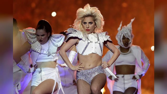Lady Gaga performsduring the halftime show of the NFL Super Bowl 51 football game between the New England Patriots and the Atlanta Falcons Sunday, Feb. 5, 2017, in Houston. (AP Photo/Matt Slocum)