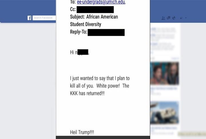 Source: U of M students on university's Facebook page