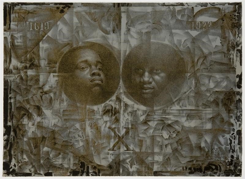 """Charles White, """"Wanted Poster,"""" 1970, lithograph. ©1970 The Charles White Archive"""