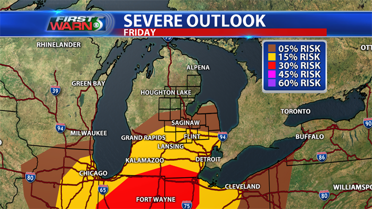 Severe weather percent risk for Friday.