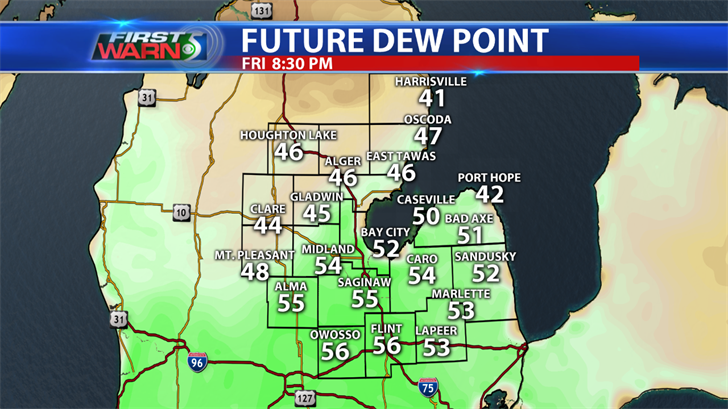 Future dew point 8:30 pm Friday.
