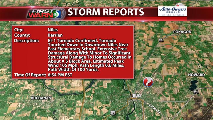 EF-1 Tornado - Niles, MI