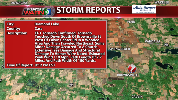 EF-1 Tornado - Diamond Lake-Vandalia, MI