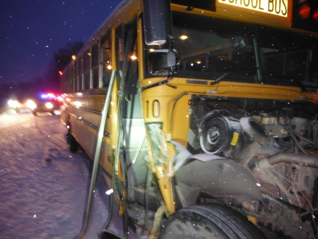 Farwell School bus (Courtesy: Clare County Sheriff's Dept.)