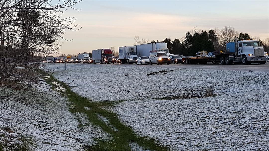 Traffic on southbound I-75 at the Clio rest area was shut down for sometime.