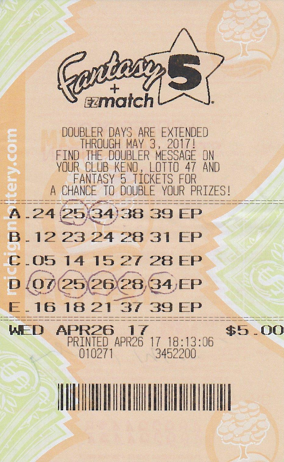 (Source: Michigan Lottery)