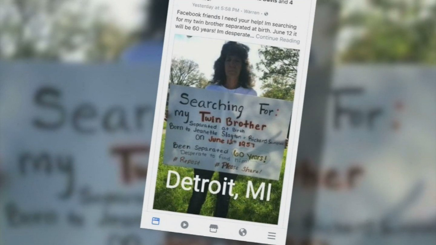 Michigan woman searching for missing twin brother wnem tv 5 aiddatafo Image collections