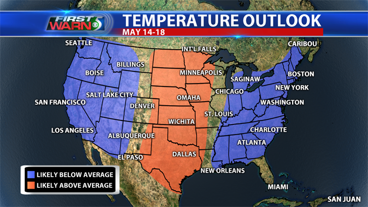 Temperature Outlook, May 14-18