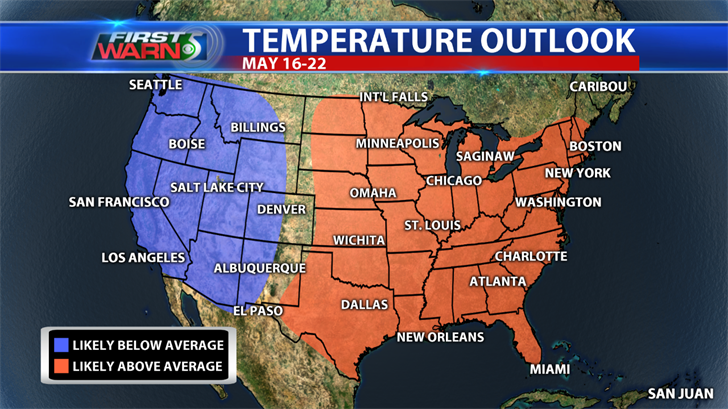 Temperature Outlook, May 16-22