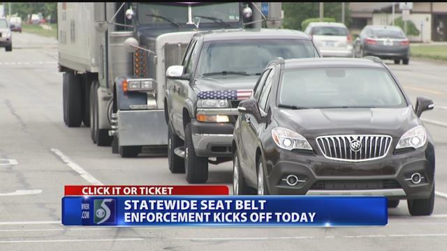 Buckle up or get a ticket, seat belt enforcement underway