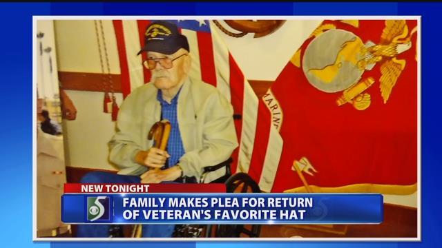 Family makes plea for return of veteran's favorite hat